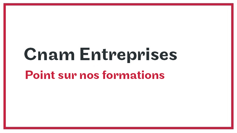 Point sur nos formations